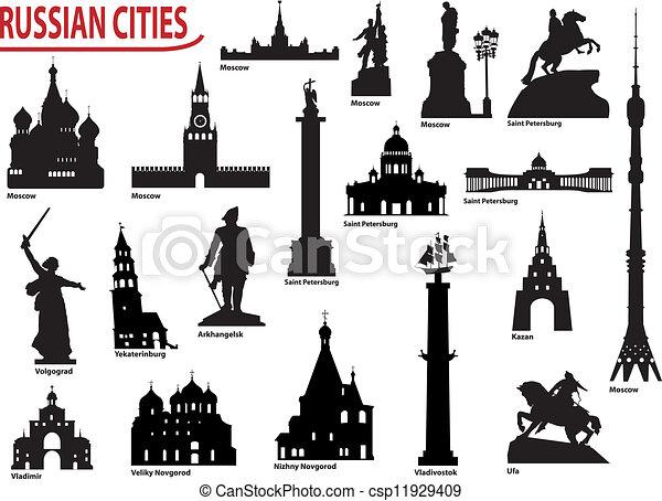 Clipart Vecteur de symboles, russe, villes - Symbols, de ...