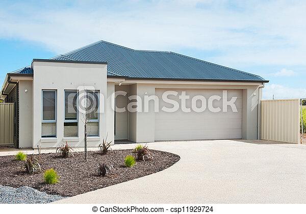 Landhaus modern fassade  Stock Foto von haus, vorstädtisch, modern - typisch, fassade, von ...