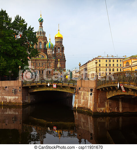 Church of the Savior on Spilled Blood in St. Petersburg  - csp11931670