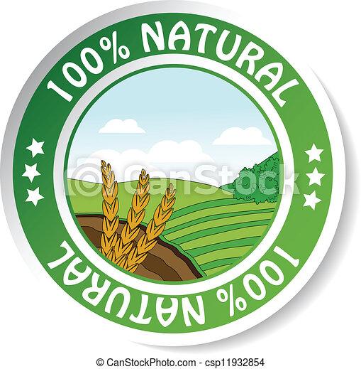 natural sticker, paper nature label - csp11932854