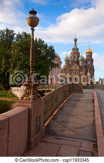 Church of the Savior on Blood in summer - csp11933345