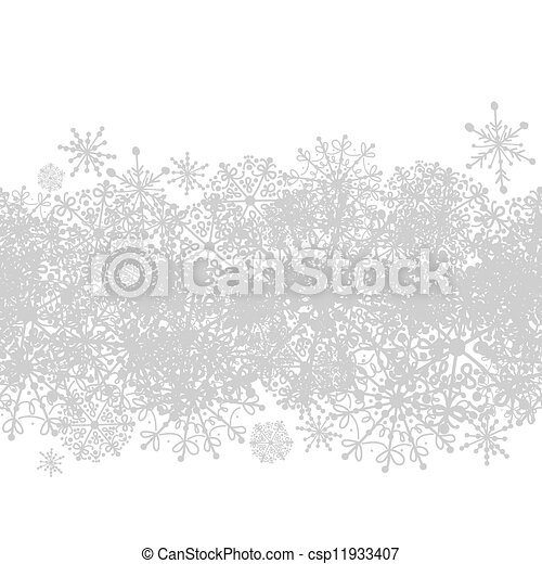 Seamless pattern with winter snowflakes for your design  - csp11933407