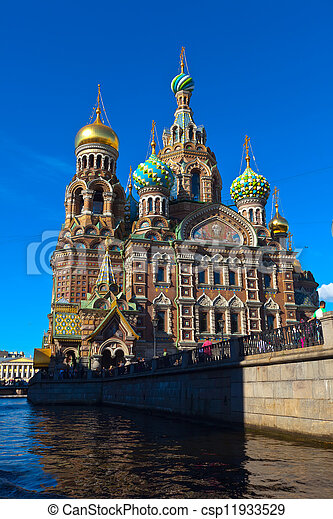 Church of the Savior on Blood in summer  - csp11933529