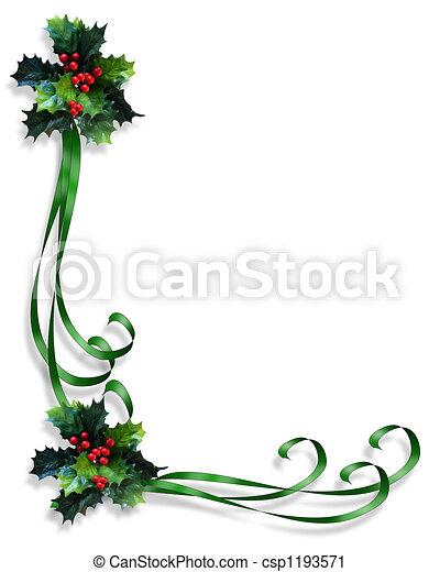 cornice, bordo, Natale - csp1193571