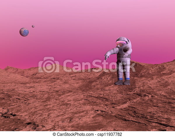 man on planet mars - photo #40