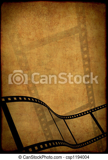 Grunge background - symbolical image of a film - csp1194004