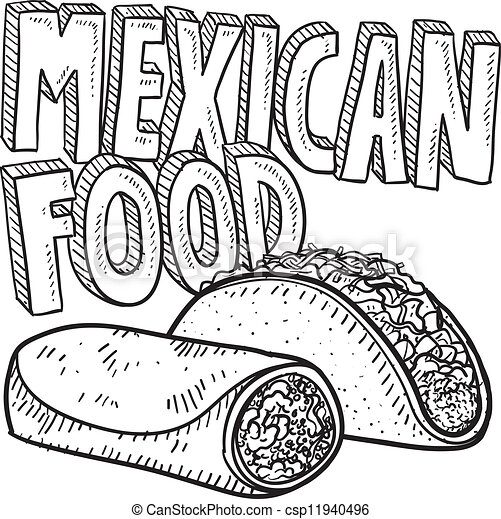 Mexican food Vector Clipart EPS Images. 4,558 Mexican food clip ...