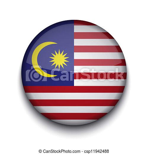 Vector creative circle flag on white background. Eps10 - csp11942488