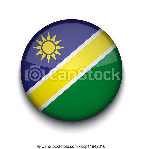 Vector creative circle flag on white background. Eps10 - csp11942816