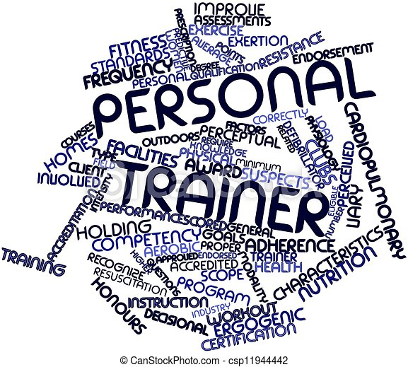 Word cloud for Personal trainer - csp11944442