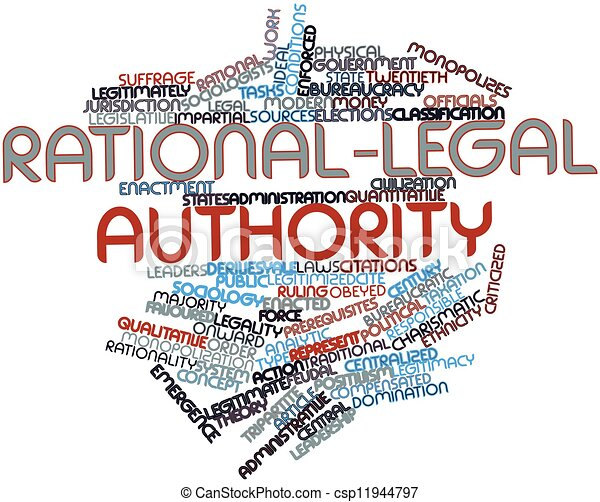 Word cloud for Rational-legal authority - csp11944797