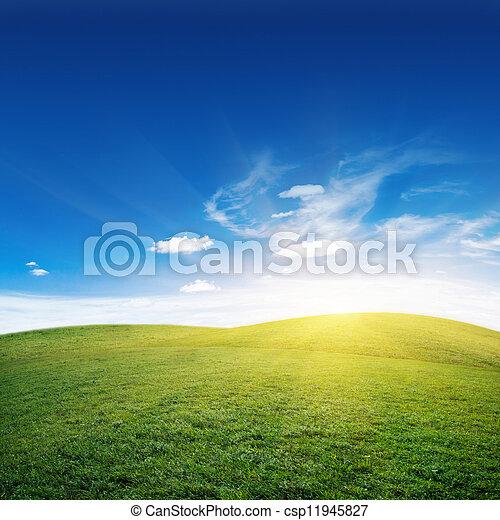 Sunrise and hills - csp11945827