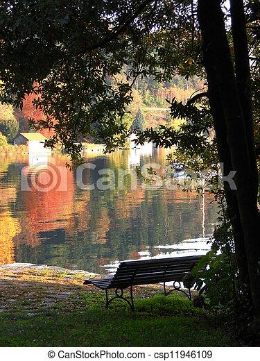 Autumn on the lake - csp11946109