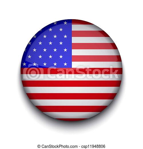Vector creative circle flag on white background. Eps10 - csp11948806