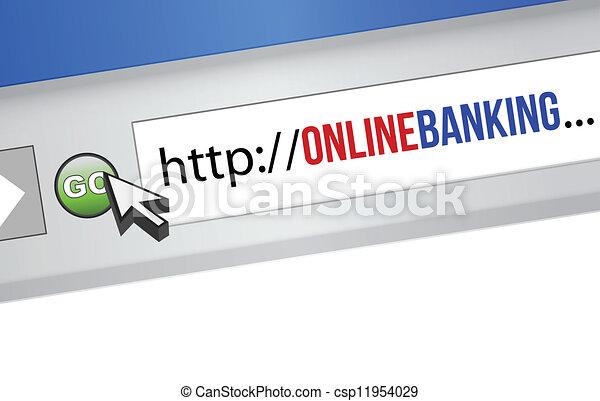 online banking concept - csp11954029