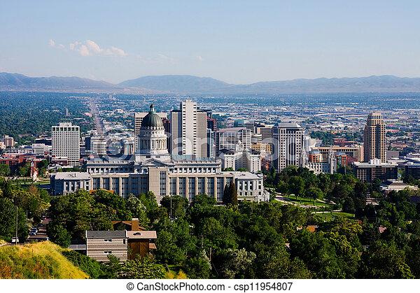 Salt Lake City, Utah - csp11954807