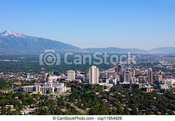 Salt Lake City, Utah - csp11954926