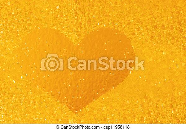 golden crystal heart - csp11958118