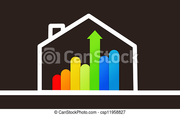 Energy efficient house graphic - csp11958827