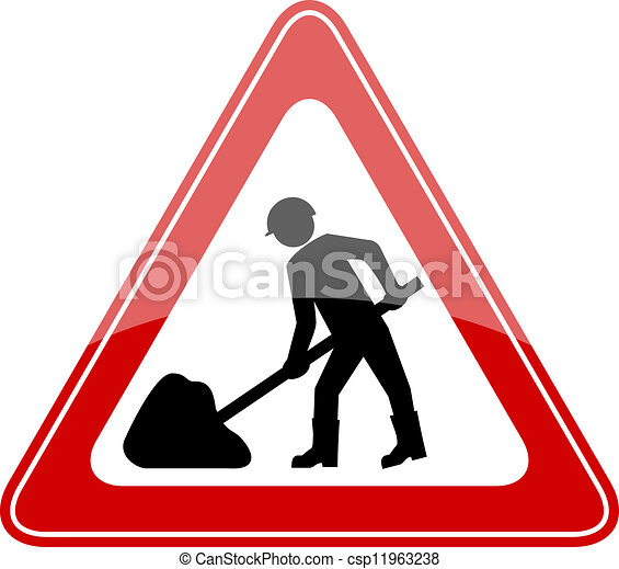 Vector road works sign - csp11963238