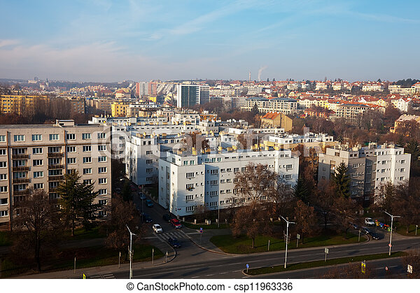 residential district in Prague - csp11963336
