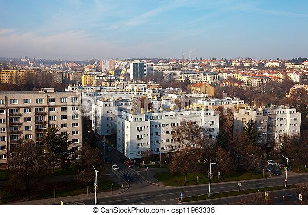 residential district in Prague - csp11963336