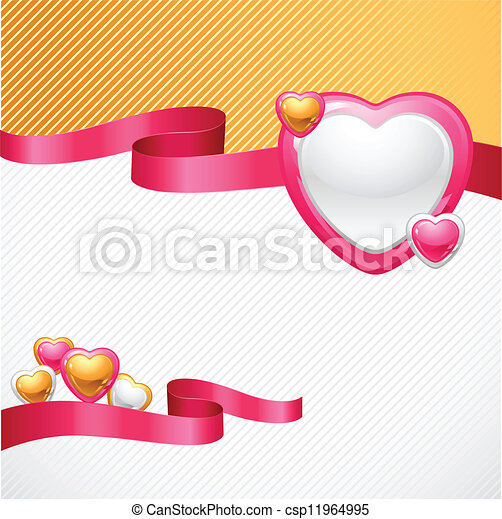 Valentine's Day vector background. Gift card and flyer. - csp11964995