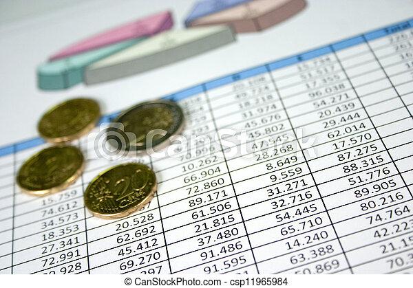 Financial Management Chart 11 - csp11965984