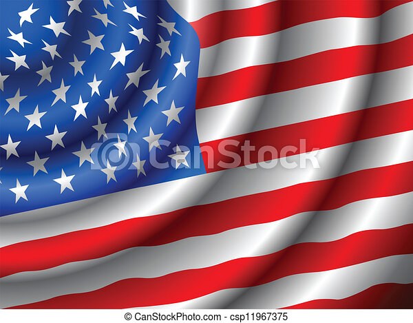 VECTOR American flag  - csp11967375