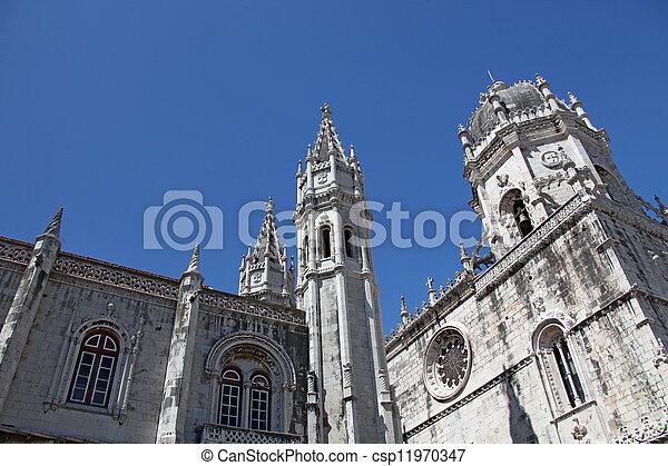 """The historic monastery """"Mosteiro dos Jeronimos"""" of Lisbon in Por - csp11970347"""