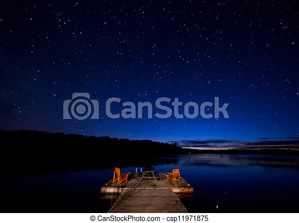 Stars over the Lake - csp11971875