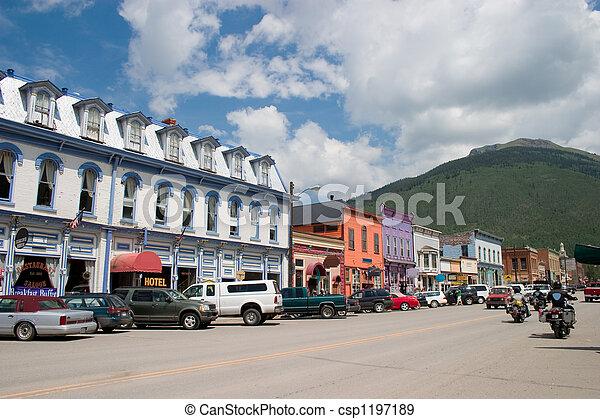 Historic Mountain Mining Town - csp1197189