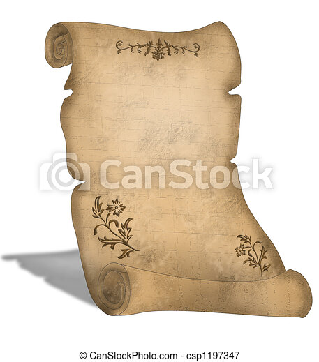 Old Parchment scroll  - csp1197347