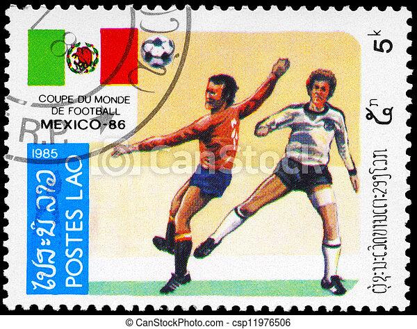 LAOS - CIRCA 1985 Soccer game - csp11976506