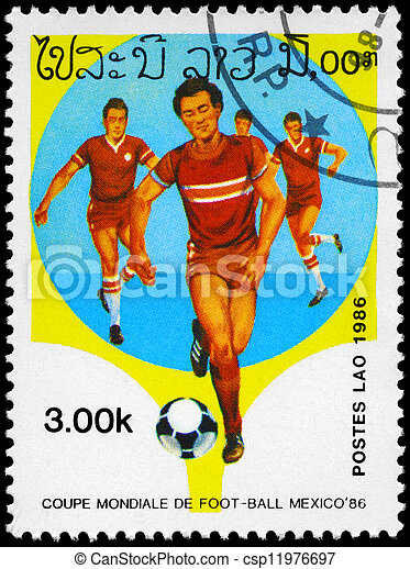 LAOS - CIRCA 1986 Soccer - csp11976697