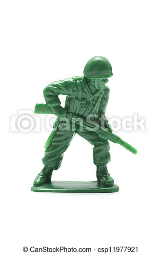 miniature toy soldier - csp11977921