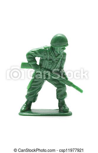 miniature toy soldier - csp11977921