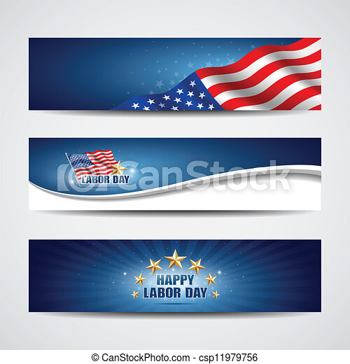 Labor day USA banner design - csp11979756