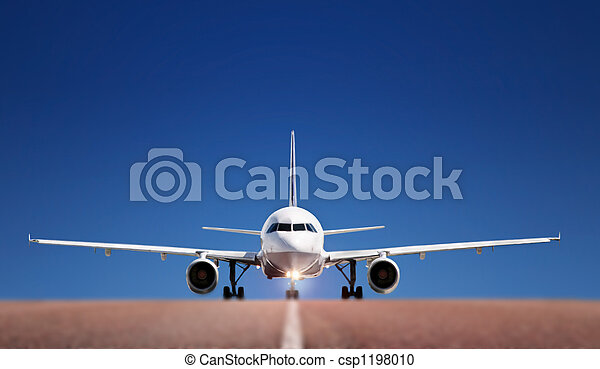 Boing on runway - csp1198010