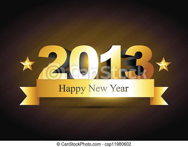 creative happy new year design - csp11980602