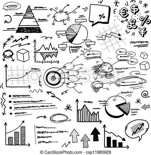 hand doodle charts - csp11980929