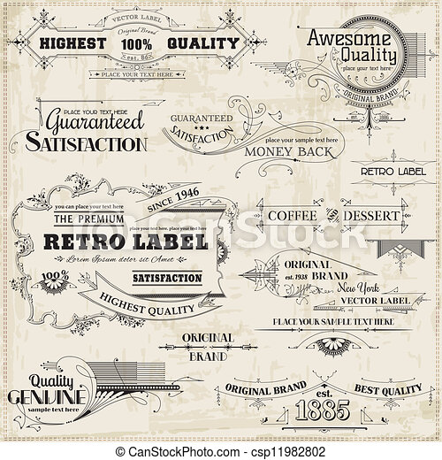 Vector Set: Calligraphic Design Elements and Page Decoration, Vintage Frame collection - csp11982802