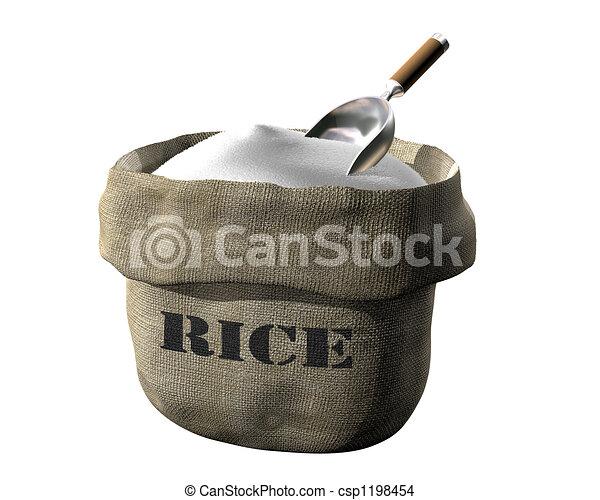 Sack of rice - csp1198454