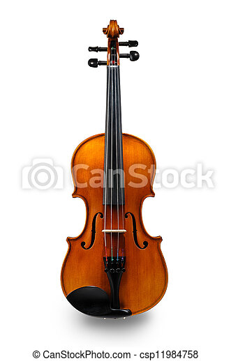 Violin isolated on white - csp11984758