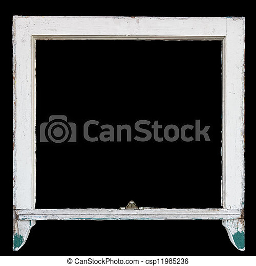 Rustic vintage window frame, can be used as photo frame - csp11985236