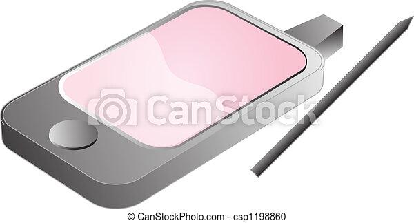 PDA phone illustration - csp1198860