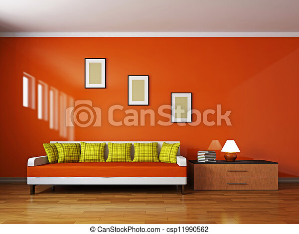stock illustration von regal livingroom sofa livingroom mit sofa und a csp11990562. Black Bedroom Furniture Sets. Home Design Ideas