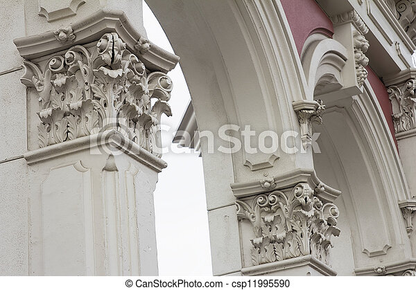 Renaissance Architectural Column and Archway