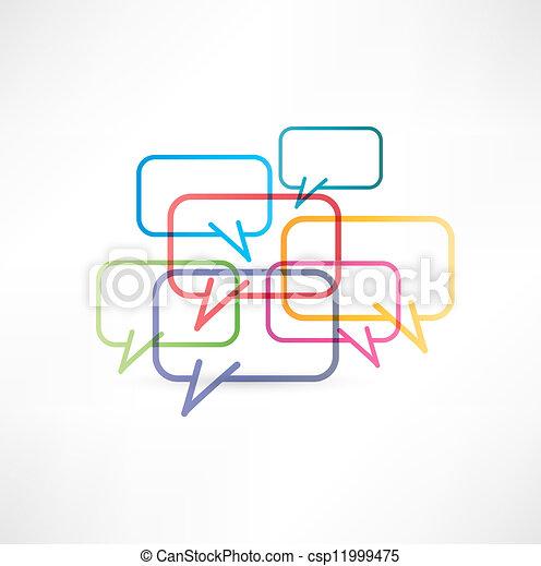 chat box icon design - csp11999475