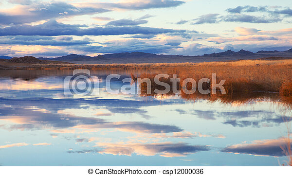Achitnoor lake in the Mongolian - csp12000036
